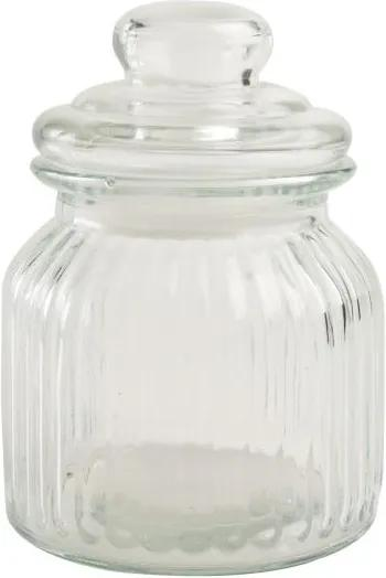 Recipient din sticlă T&G Woodware Ribbed, 600 ml