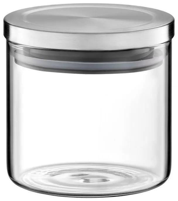 Borcan Sticla 600 ml cu capac Metal Roxy