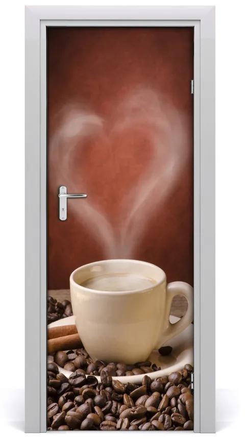 Autocolante pentru usi cafea aromatică