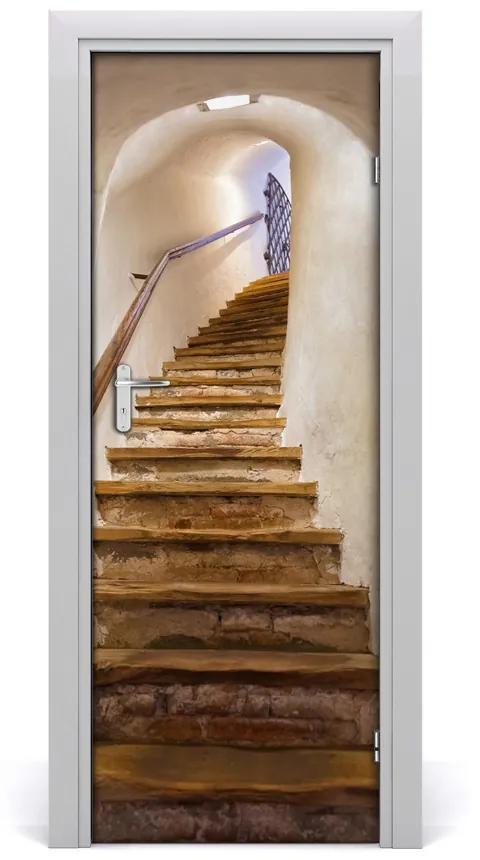 Autocolante pentru usi Auto-adezive pe ușă în scările castel