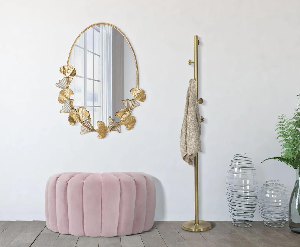 Taburet Shell, lemn de pin metal plastic poliester, roz,  80X54X42 cm