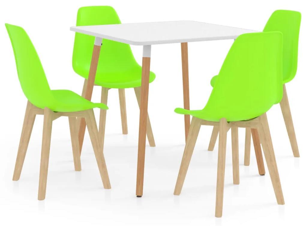 3055397 vidaXL Set mobilier de bucătărie, 5 piese, verde
