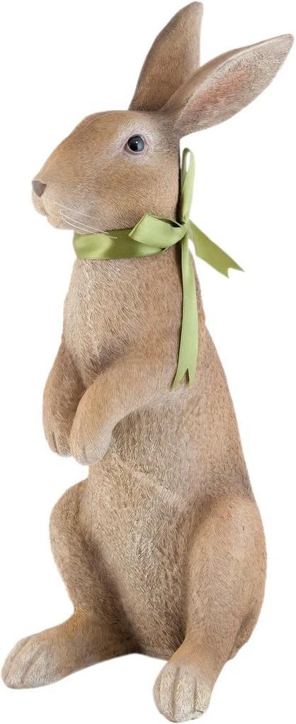 Figurina Iepuras Paste polirasina maro 15*21*48 cm