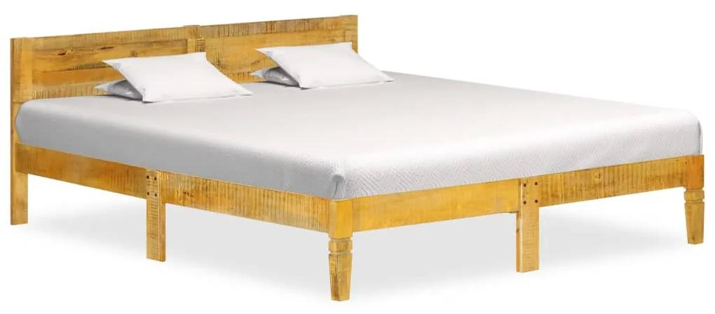 288433 vidaXL Cadru de pat, 180 cm, lemn masiv de mango
