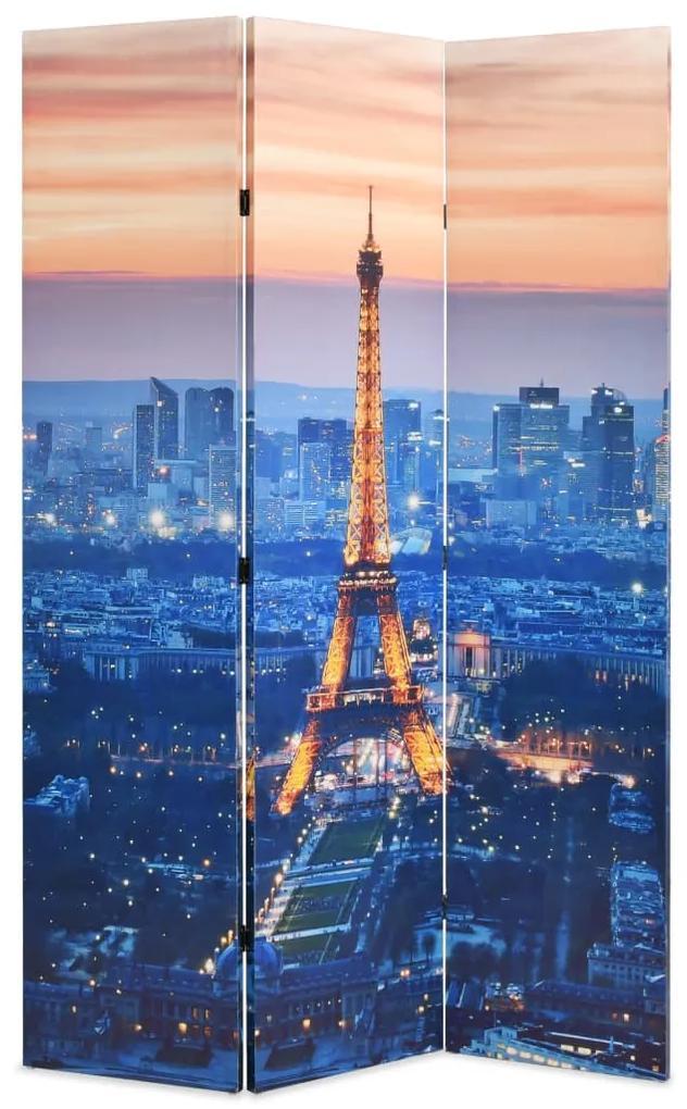 245869 vidaXL Paravan de cameră pliabil, 120 x 170 cm, Parisul noaptea