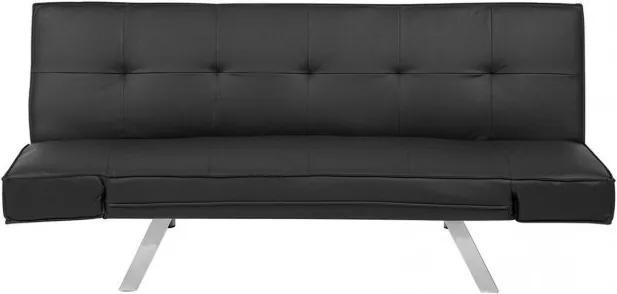 Canapea extensibila Bristol, negru, 84 x 180 x 74 cm