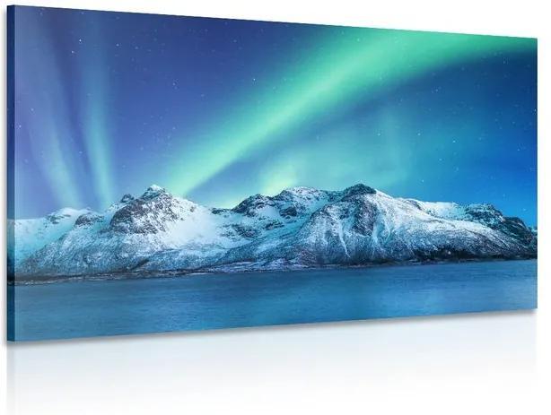 Tablou aurora polară arctică