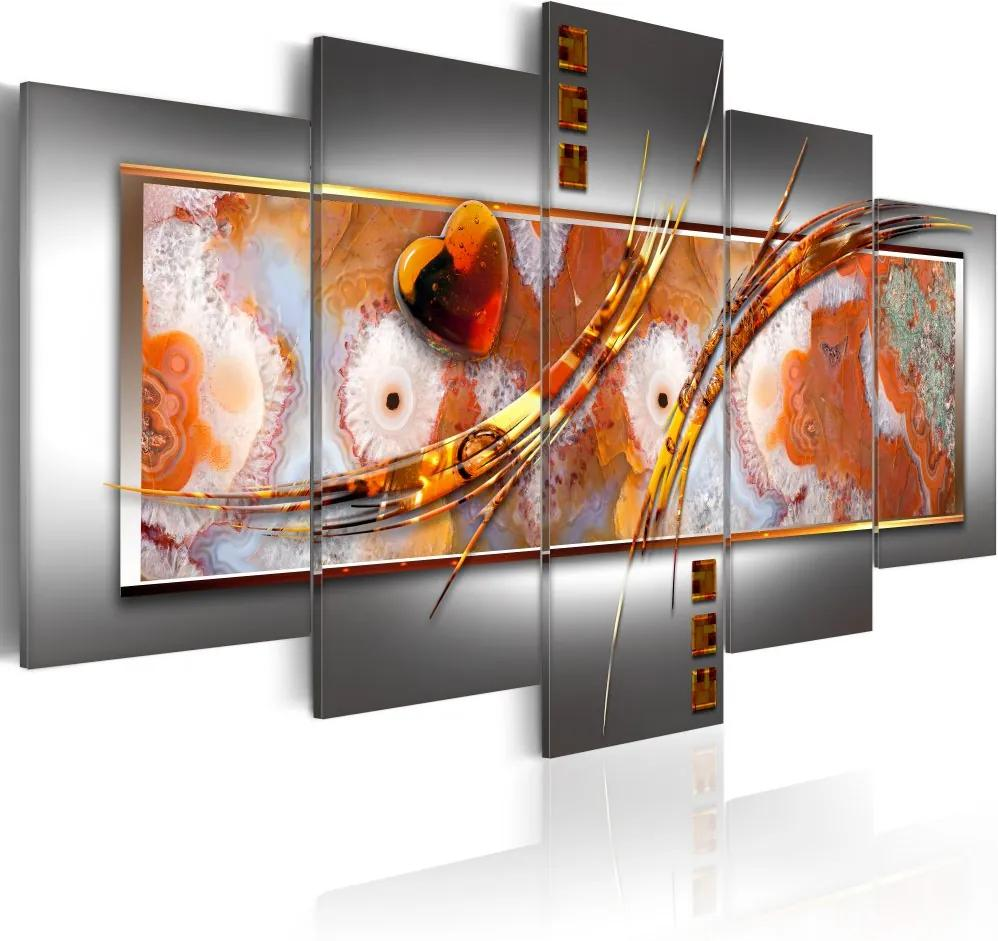 Tablou Bimago - Orange destruction 100x50 cm