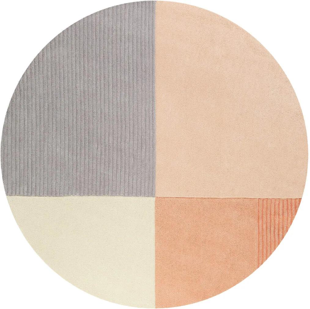 Covor Modern & Geometric Harlem, Rotund, Portocaliu, 150x150