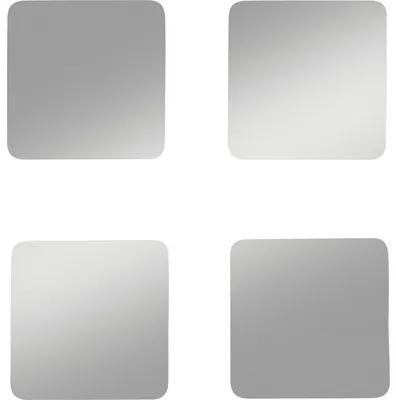 Set oglinda decorativa Bine 2 (4 buc) 20x20 cm, adeziv inclus
