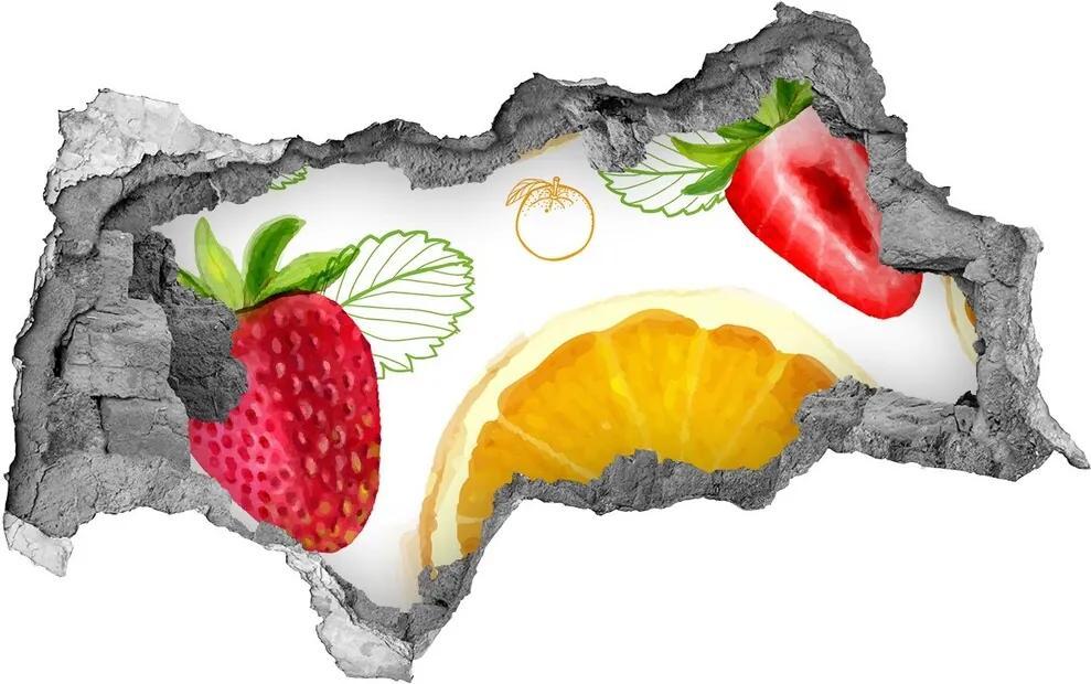 Samolepiaca nálepka betón Ovocie