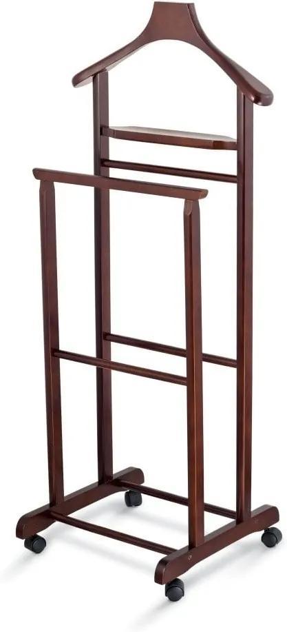Valet din lemn pentru haine Domopak Living, maro închis