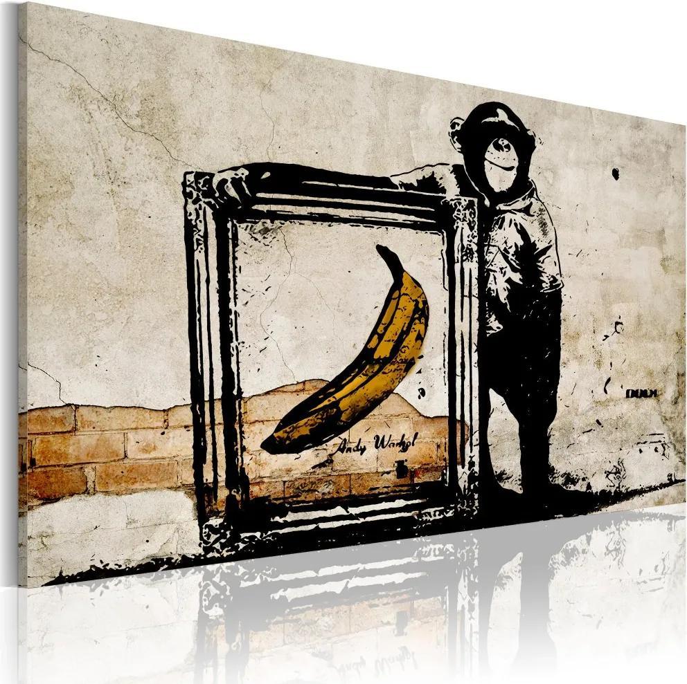 Tablou - Inspired by Banksy - sepia 60x40 cm