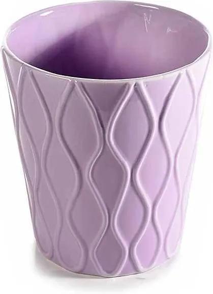 Ghiveci pentru flori ceramica mov Ø 13 cm x 14 H