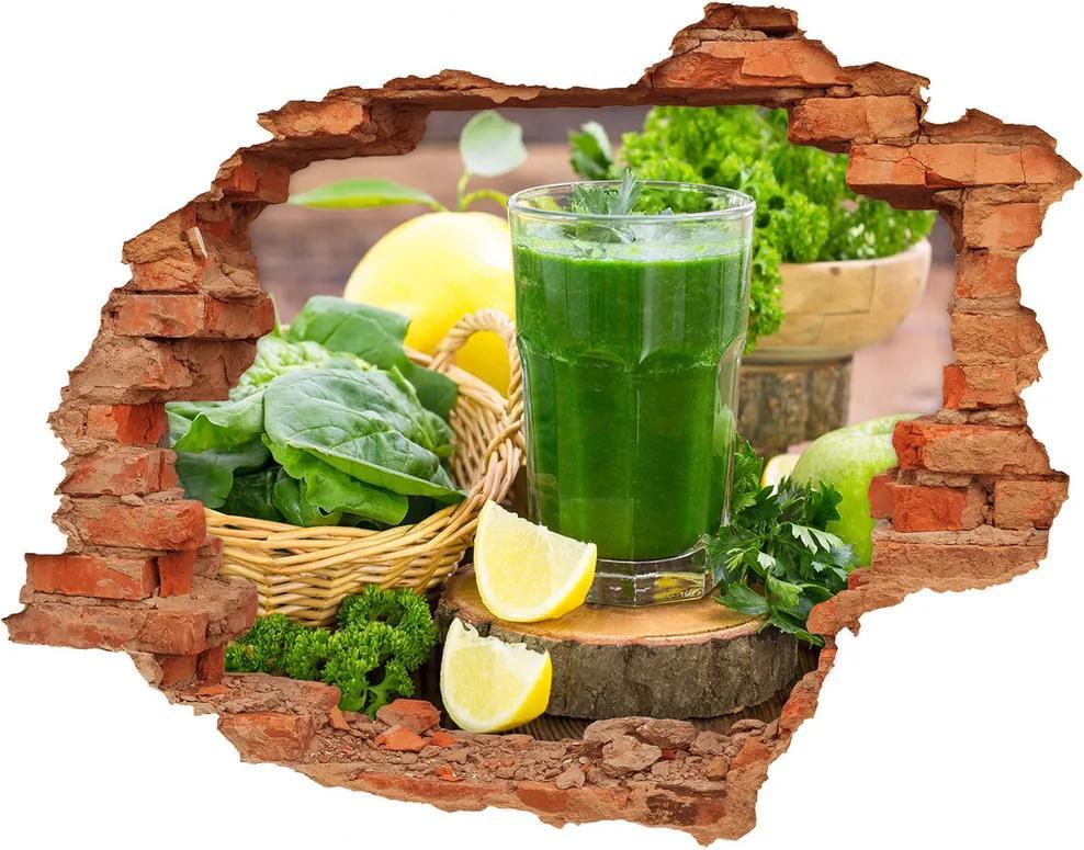 Fototapet un zid spart cu priveliște Cocktail verde