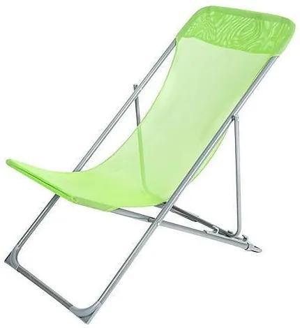 Sezlong de plaja BARBADOS, verde deschis, 56x85x90cm, Strend Pro