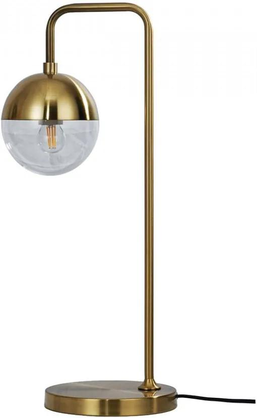 Lampa birou maro alama din sticla si fier 59 cm Globular