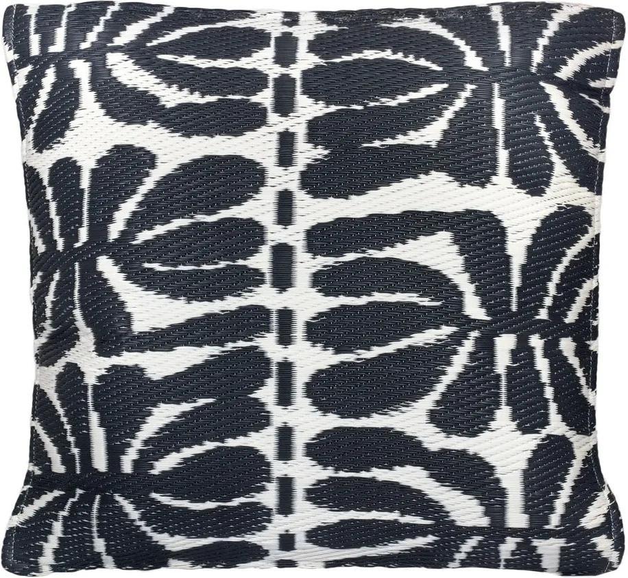 Pernă adecvată pentru exterior Fab Hab Serowe Black, 42 x 42 cm, alb - negru