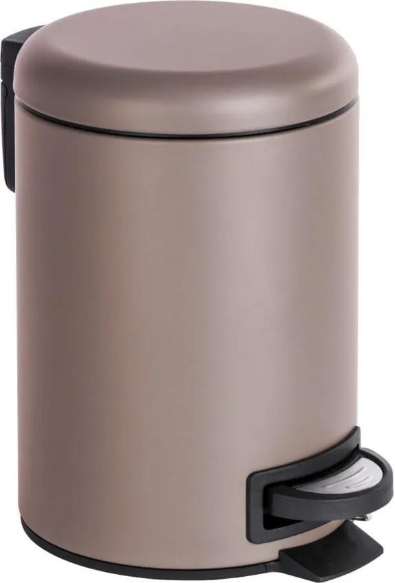 Coș de gunoi cu pedală Wenko Leman, 3 l, maro - bej