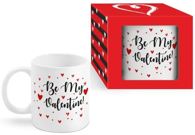 Cana mesaj Be my Valentine 300ml