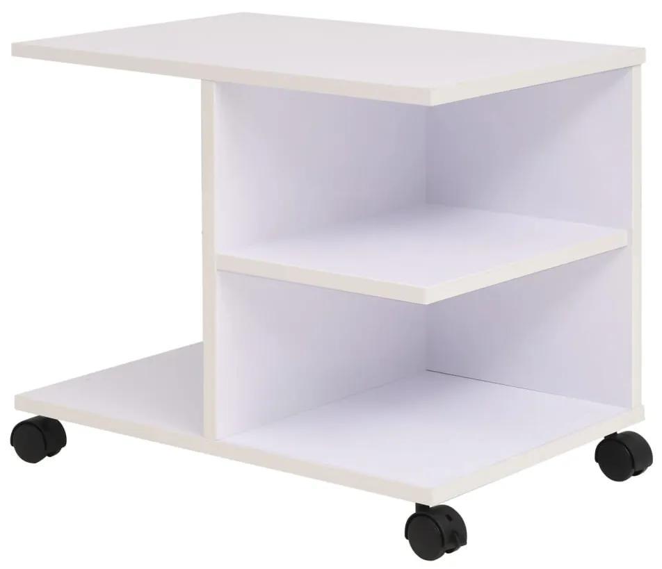 245724 vidaXL Raft rulant, 50 x 35 x 42 cm, alb