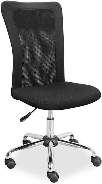 Scaun birou rotativ negru din piele ecologica fara manere   PRIMERA COLLECTION