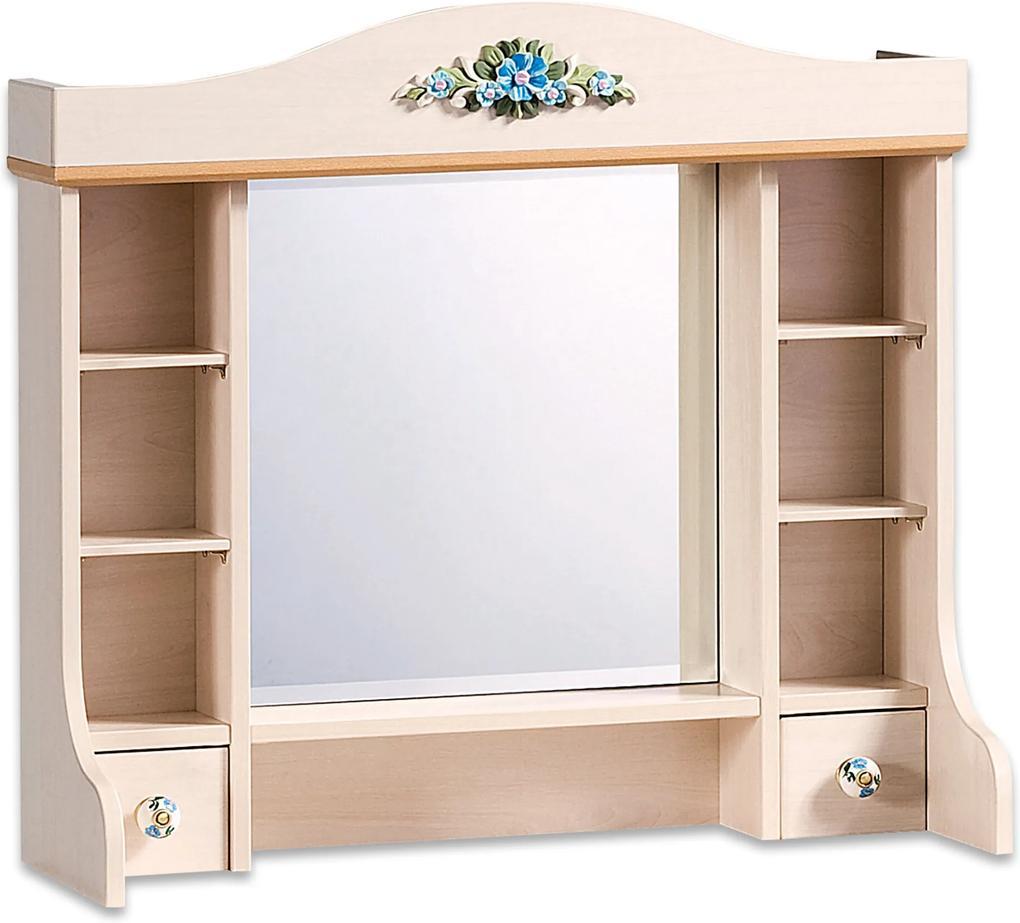 Biblioteca cu oglinda pentru comoda din PAL Flora 76x72x30 cm