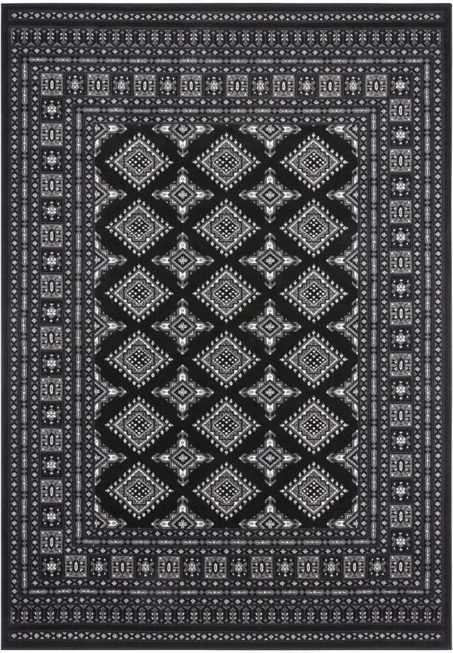 Covor Nouristan Sao Buchara, 120 x 170 cm, negru