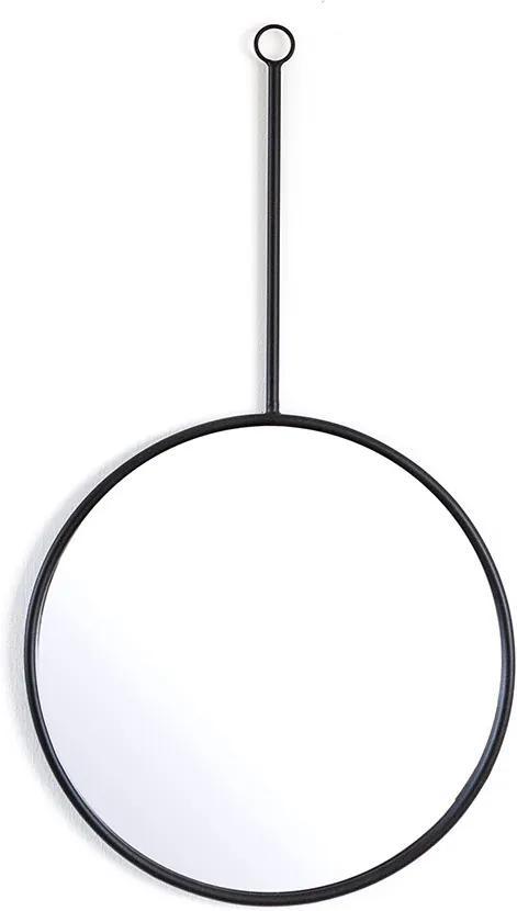 Oglinda rotunda cu rama din fier Womack large, 50 x 3 x 90 cm