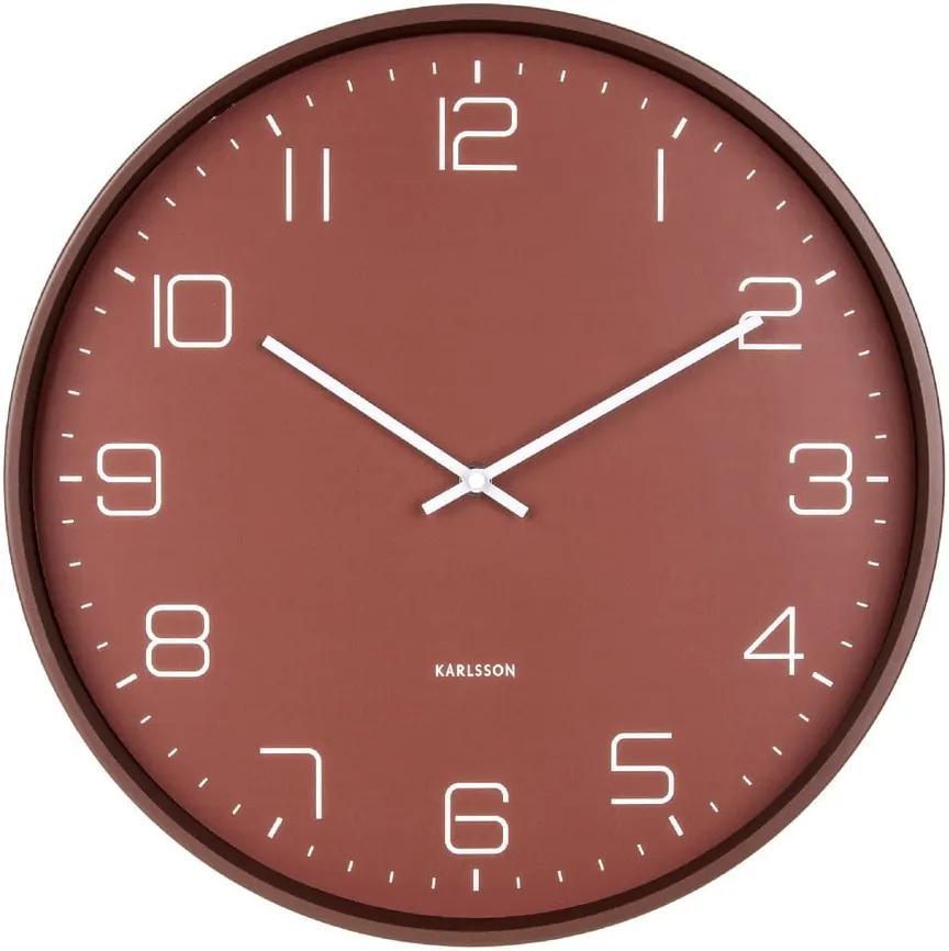 Ceas de perete Karlsson Lofty, ø 40 cm, roșu