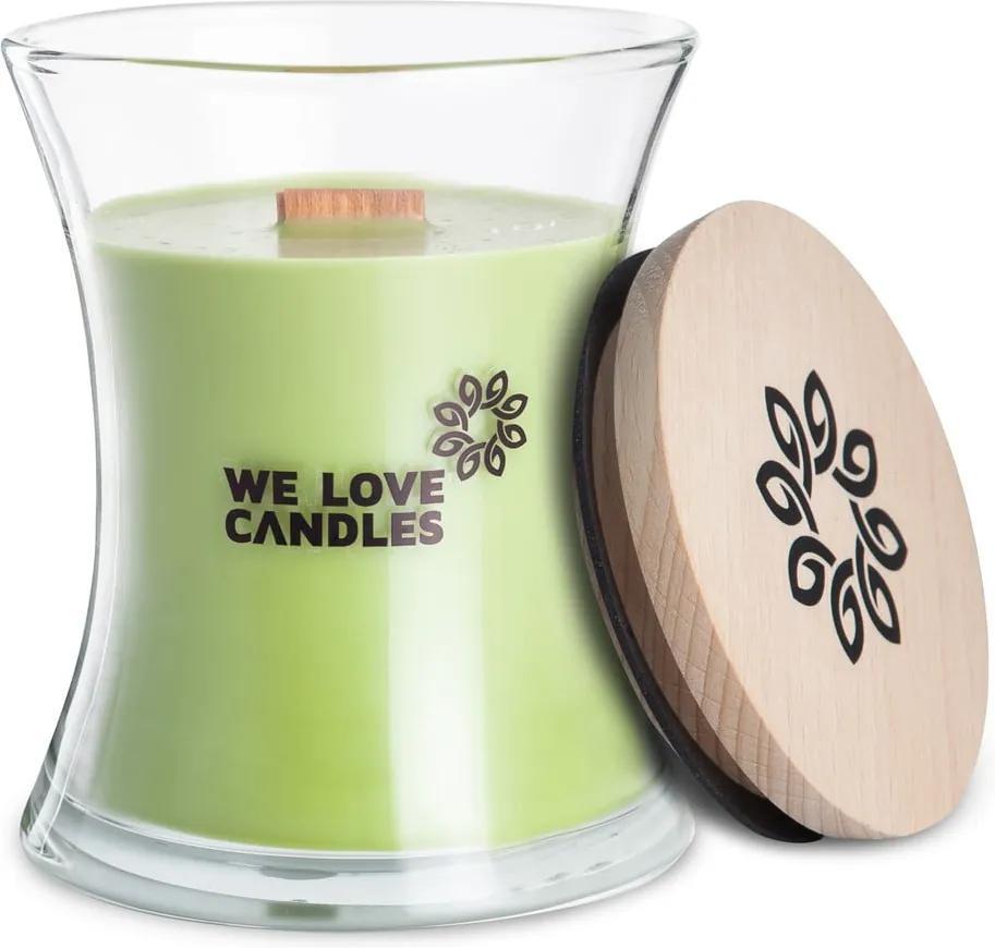 Lumânare din ceară de soia We Love Candles Green Tea, 129 ore de ardere
