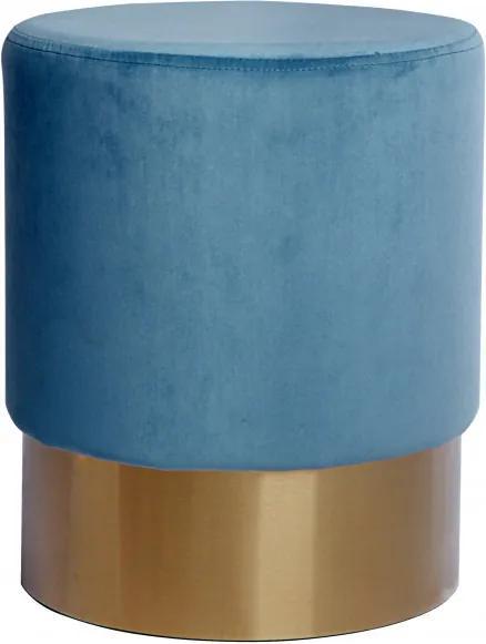 Taburet tapițat Aspen albastru