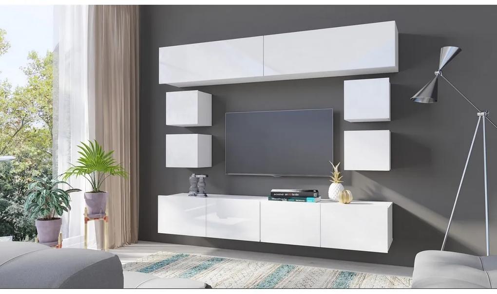 Expedo Mobilă sufragerie BRINICA NR 16, alb/alb luciu