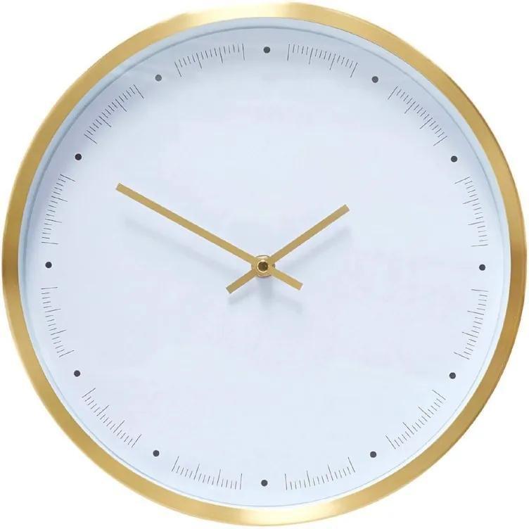 Ceas din Alama Alb - Alama ALb Diametru(30x 50 cm)