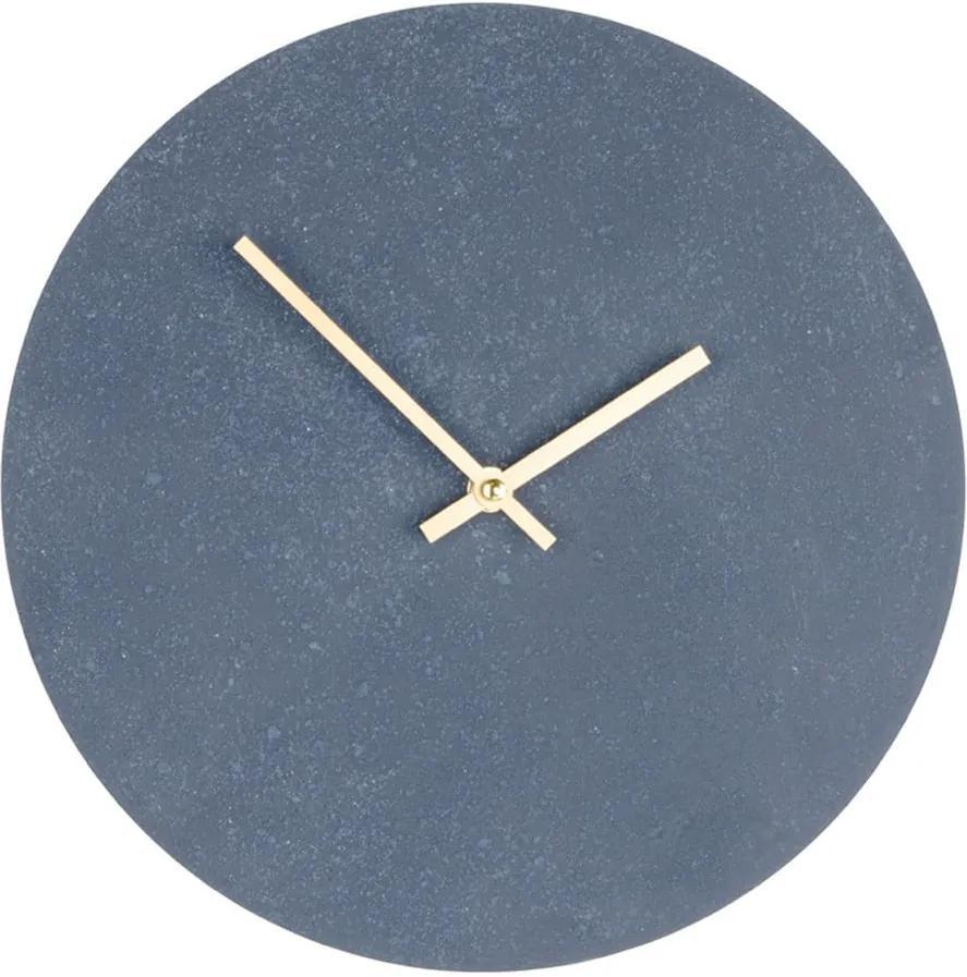 Ceas din lemn pentru perete House Nordic Paris, ⌀ 30 cm, gri