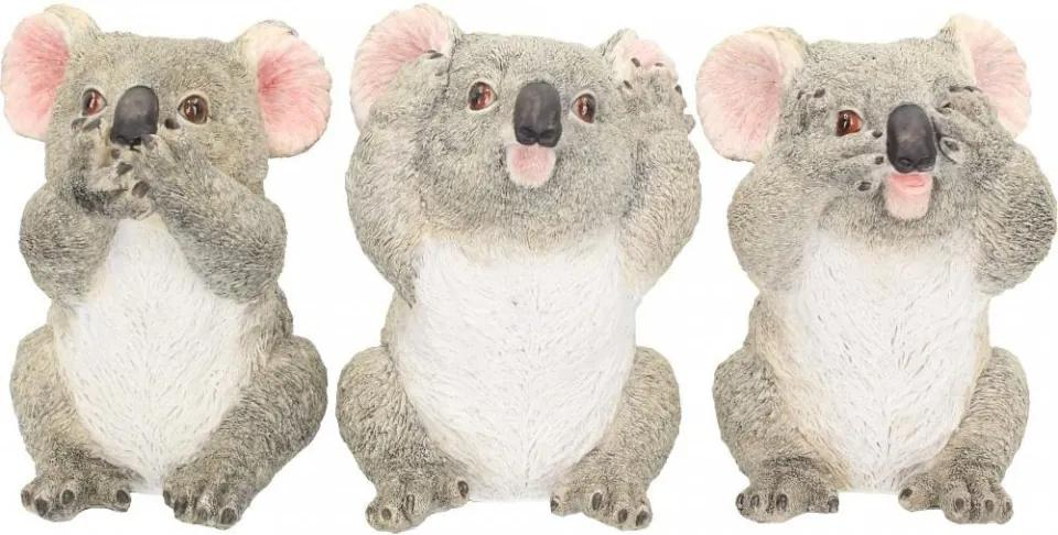 Set statuete Trei ursuleti Koala intelepti 10 cm