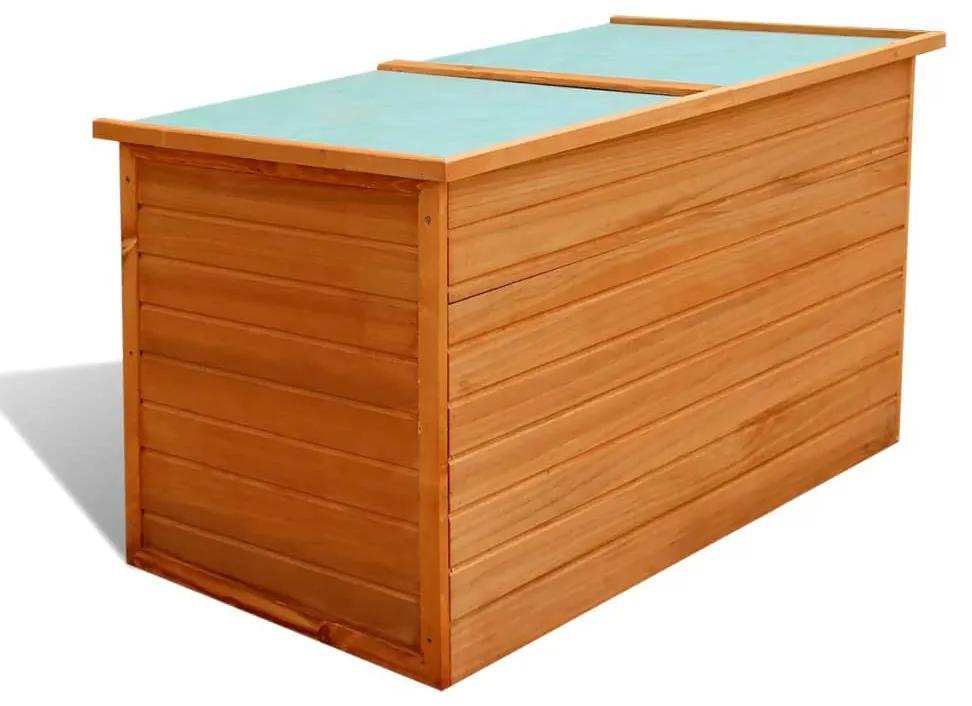 42702 vidaXL Ladă de depozitare de grădină, 126 x 72 x 72 cm, lemn