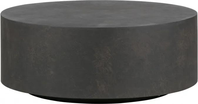 Masuta de cafea rotunda din fibra argila Dean 32x80x80 cm neagra