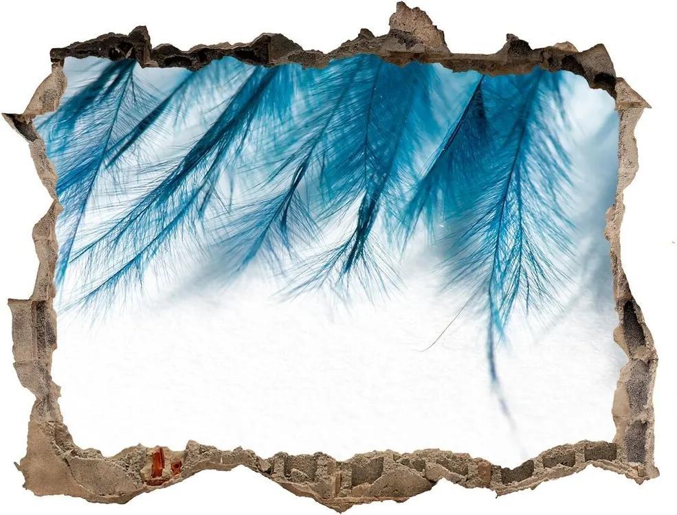 Autocolant autoadeziv gaură Pene albastre