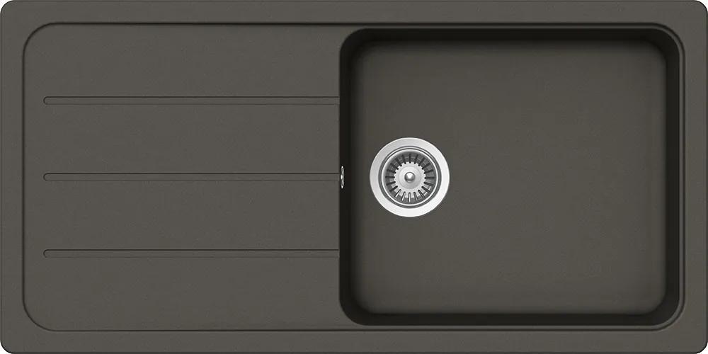 Chiuveta Granit Schock Formhaus D-100L Asphalt Cristalite 1000 x 500 mm