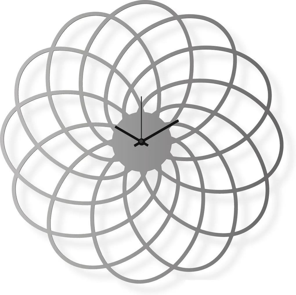Ceas de perete de dimensiuni medii, din oțel inoxidabil 40x40 cm - Floare   DSGN