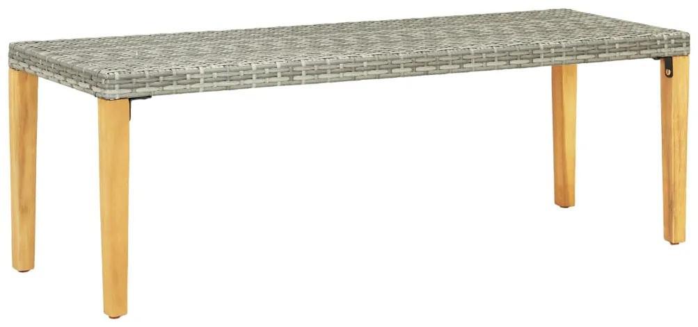 46487 vidaXL Bancă de grădină, gri, 80 cm, poliratan