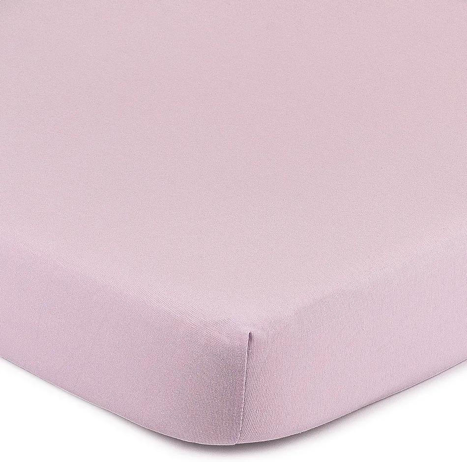 Cearşaf 4Home Jersey, cu elastan, violet, 180 x 200 cm, 180 x 200 cm