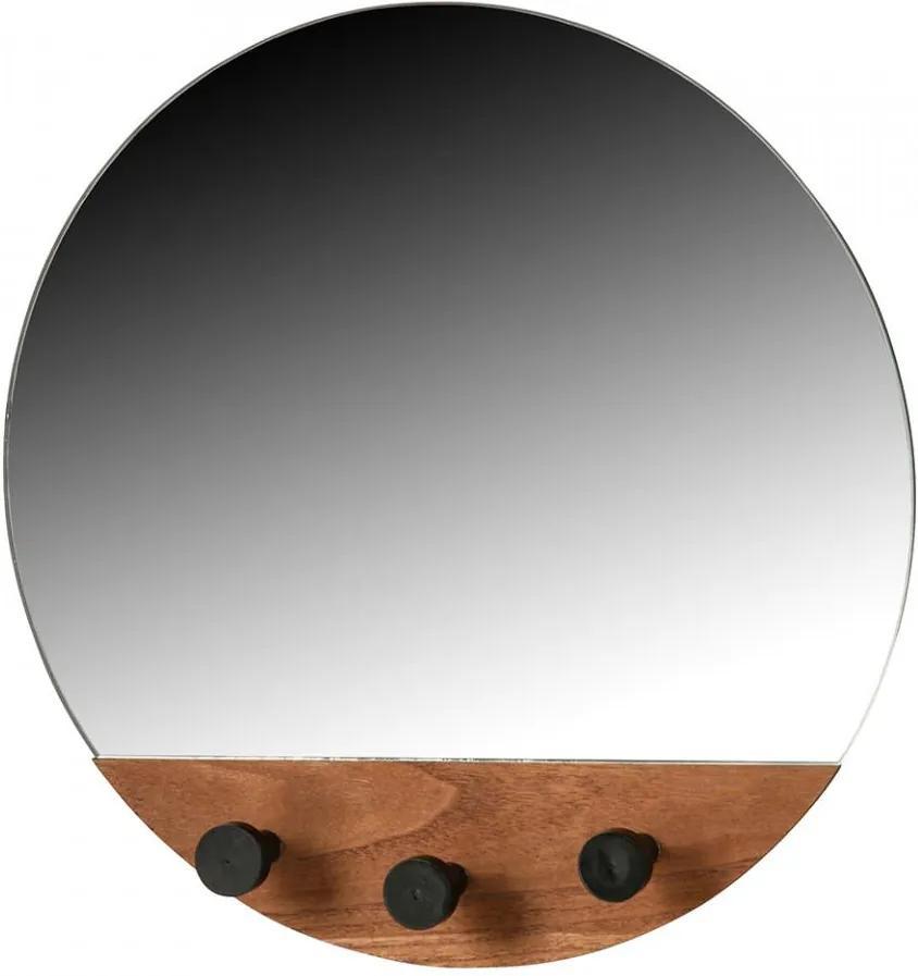 Oglinda cu agatatori maro din MDF 40 cm Tyler