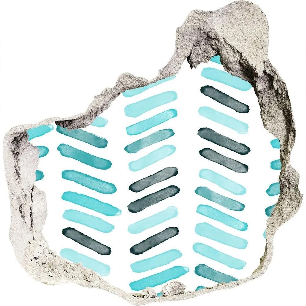Autocolant 3D gaura cu priveliște Spic albastru
