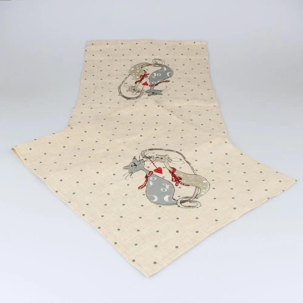 Traversă pentru masă Dakls Cats, 140 x 33 cm