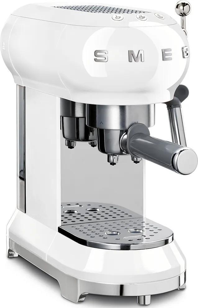 Aparat de cafea pentru Espresso / Cappuccino 50's Retro Style 15 bar 2 cești, alb - SMEG