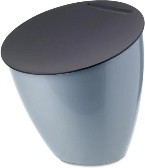 Coș de gunoi pentru blat bucătărie Rosti Mepal Calypso, albastru deschis