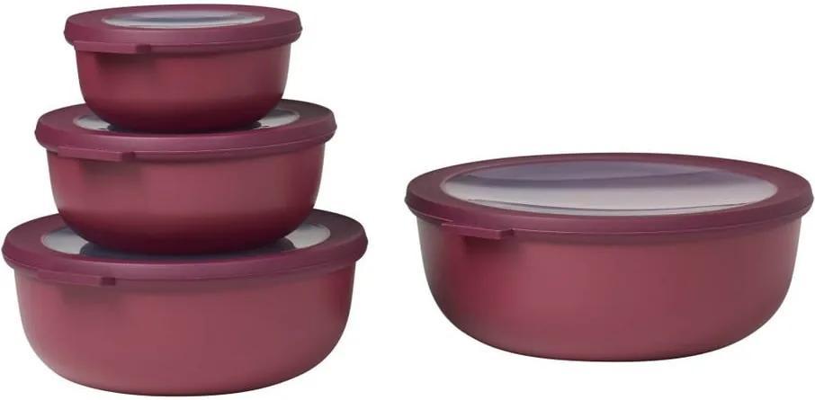 Set 4 cutii pentru gustări Rosti Mepal Nordic, roșu închis