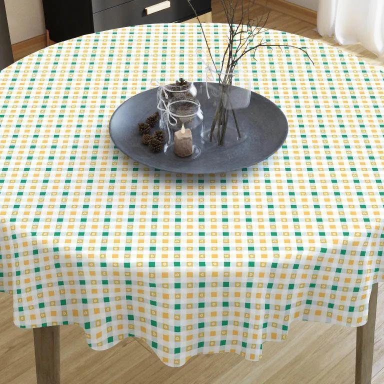Goldea față de masă decorativă loneta - model 365 - rotundă Ø 70 cm